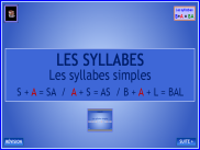 Les syllabes simples