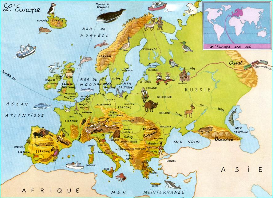 Carte De Leurope En Neerlandais.L Europe